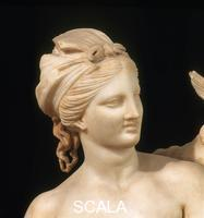 Greek art Aphrodite, Pan and Eros - detail, 1st cent. b.C., from Delos