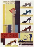 ******** A selection of fashionable high heeled shoes Advertisement in Britannia and Eve March 1931 page 90 1931