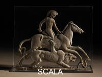 ******** Terracotta relief with Bellerophon and the Chimaera. Classical Greek. Melos, Greece. c.450BC