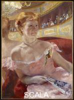 Cassatt, Mary (1844-1926) Woman with a Pearl Necklace in a Loge, 1879