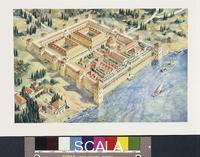 ******** Croatia - Split. Reconstructed Diocletian Palace. Color illustration