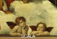 Raphael (1483-1520) The Sistine Madonna, 1512-1513 - Detail