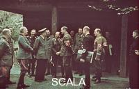 ******** Party for Hitler's birthday at the 'Wolfsschanze' near rastenburg, 1942/04/20. From left to right: General Walther Buhle, Wilhelm Keitel, Karl-Heinrich Bodenschatz, Hitler, Julius Schaub, Erhard Milch,  Albert Speer, Dr. Theo Morell, Albert Ganzenmueller, Julius Lippert