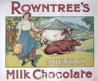 ******** Box top for Rowntree's Mountain Milk Chocolate, 1910s.