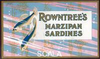 ******** Box top for Rowntree's Marzipan Sardines, 1912.