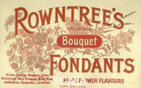 ******** Box top for Rowntree's Bouquet Fondants, 1910s.