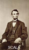 ******** Abraham Lincoln, 16th President of the United States, 1860s. Lincoln (1809-1865) joined the Republican party in 1858 and was elected president two years later. In 1863, he proclaimed the emancipation of all slaves in the southern Confederate states and later that year restated his anti-slavery views in the Gettysburg Address. During his 1864 campaign for re-election, he embraced the abolition of slavery. He was infamously shot by actor John Wilkes Booth whilst attending the theatre in 1865.