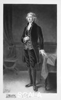 ******** Thomas Jefferson, 3rd President of the United states of America, (1901). Jefferson (1743-1826) was the primary author of the Declaration of Independence and one of the major figures of early American political history. After serving as the nation's first Secretary of State (1790-1793) and as Vice-President to John Adams (1797-1801), he was elected the third president of the USA, holding office from 1801-1809.