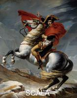 David, Jacques Louis (1748-1825), copy Le Premier Consul Napoleon Bonaparte (1769-1821) franchissant les Alpes au col du Grand Saint-Bernard en mai 1800. 19eme siecle