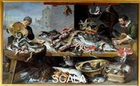 Snyders, Frans (1579-1657), workshop Marchand de poissons a leur etal, 17eme siecle