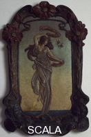 ******** Allegory of evening, terracotta bas-relief.