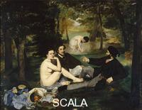 Manet, Edouard (1832-1883) Le dejeuner sur l'herbe (Luncheon on the Grass), 1863