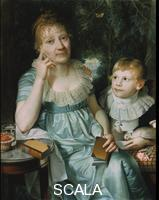 Caffe, Daniel (1756-1815) Christiane Naubert and Her Son, 1806