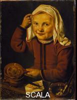 Woutersz, Jan (1599-1683) Girl baking a pancake