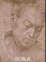 Lippi, Filippino (1457-1504) Head of an Older Man Looking Down, 1480-83