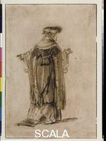 Rembrandt van Rijn (1606-1669) Costume Study of a Richly Dressed Woman, 1638-40