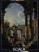 Pannini, Giovanni Paolo (c. 1691-1765) Idealized Veduta with Ruins 1727