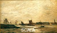 Daubigny, Charles Francois (1817-1878) View with Sailing Boats