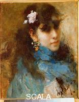 Gola, Emilio (1852-1923) Portrait of a Girl