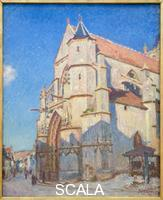 Sisley, Alfred (1839-1899) The Church of Moret at the evening, 1894