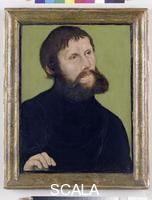 Cranach, Lucas the Elder (1472-1553) Portrait of Luther as 'Junker Joerg', 1521