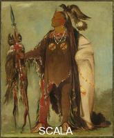 Catlin, George (1796-1872) Two Crows, a Band Chief. Crow. 1832