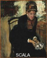 Degas, Edgar (1834-1917) Portrait of Mary Cassatt