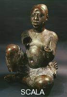 Nigerian art Seated figure, from Tada