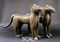 Nigerian art Two leopards. from Benin Nigeria