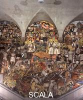 Rivera, Diego (1886-1957) Spanish Conquest and Colonization - Legacy of Independence. Central section of 'From the Conquest to 1930', 1929-30. Mural. West wall,