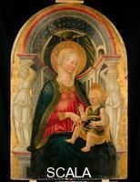 Neri di Bicci (1419-c. 1491) Madonna and Child Enthroned
