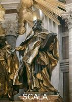 Bernini, Gian Lorenzo (1598-1680) St. Peter's Throne - d. (St. Augustine)