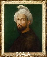 Bugiardini, Giuliano (1476-1555) Portrait of Michelangelo Wearing a Turban