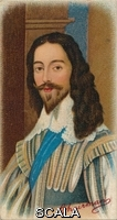 ******** King Charles I. Charles (1600-1649) was King of England, Scotland, and Ireland from 27 March 1625 until his execution in 1649. He famously engaged in a struggle for power with the Parliament of England. After a portrait by Daniel Mytens (1590-1647) dated 1631. Taken from R. J. Lea, Ltd's first series of Chairman Miniature cigarette cards, 1912.