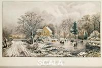 Currier and Ives (19th cent.) Beginning of Winter