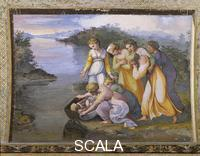 Raphael (1483-1520), school Scenes from the Story of Moses: Moses Saved from the Waters