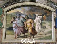 Raphael (1483-1520), school Scenes from the Story of Abraham and Lot: the Flight from Sodom
