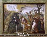 Raphael (1483-1520), school Scenes from the Story of Moses: the Miracle of the Water Struck from the Rock