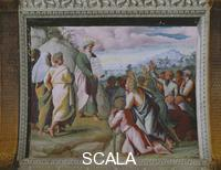 Raphael (1483-1520), school Scenes from the Story of Moses: the Presentation of the Tables of the Law to the Jews