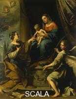 ******** Madonna and Child with St Irene and an angel, by Ercole Graziani (1688-1754), painting.