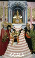 ******** The Presentation of Mary in the Temple, altarpiece from Verdu, 1432-34, by Jaume Ferrer II known as The Younger (active between 1430 and 1460-1470), oil on canvas, 159x93 cm.