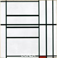 Mondrian, Piet (1872-1944) Composition No. I with Grey and Red, Composition with Red, 1938-39