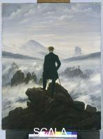Friedrich, Caspar David (1774-1840) Wanderer Above a Sea of Fog, c. 1817