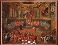 Heintz, Joseph the Younger (1600-c. 1678) Dogal Audience in the Sala del Collegio of the Doge's Palace