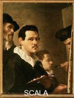 Carracci, Annibale (1560-1609) Self-Portrait with the Artist's Father