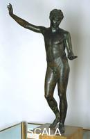 Greek art Ephebe of Marathon, c. 340 b.C. (three-quarter profile)