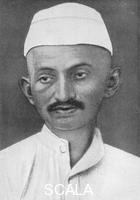 ******** Mohandas Karamchand Gandhi (1869-1948), Indian nationalist leader, 1926. Mahatma (Great Soul) Gandhi was an Indian nationalist leader and organiser of the non-cooperative movement against British rule in India. From 'An Outline of Christianity, The Story of Our Civilisation', volume 5: 'Christianity Today and Tomorrow', edited by RG Parsons and AS Peake, published by the Waverley Book Club (London, 1926).