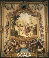 ******** The theft of Sancho's donkey, 18th century Gobelins tapestry, woven by Audran after designs by Charles Coypel, 1714-44, from the series Don Quixote.