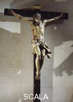 ******** Christ the Light, wooden cross, by Gregory Fernandez (1576-1636) preserved in the college of Santa Cruz, Valladolid, Spain.