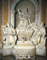 ******** Tomb of Gregory XIII, 1720-1723, marble work by Camillo Rusconi (1658-1728), St Peter's Basilica, Rome. Vatican City, 18th century.